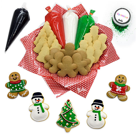 Christmas Cookie Decorating Kit | Party Favors | Cookies by Design