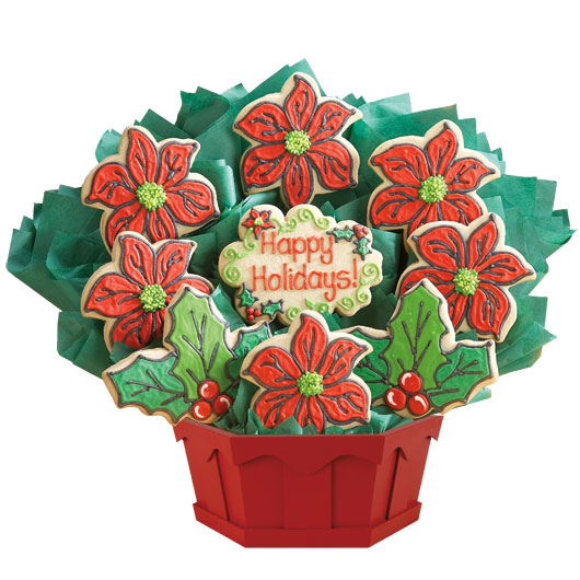 Holiday Floral Cookie Bouquet