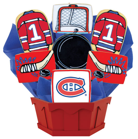 Hockey Bouquet - Montreal Cookie Bouquet