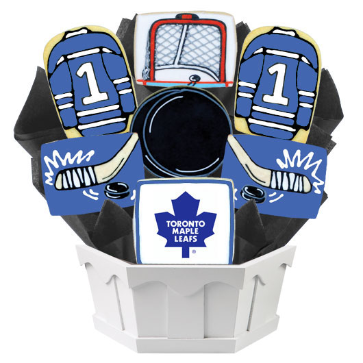 Hockey Bouquet - Toronto Maple Cookie Bouquet