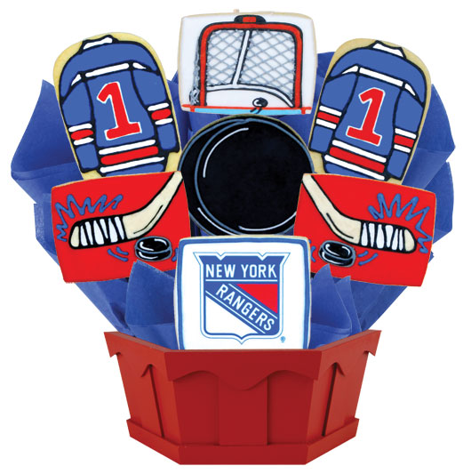 Nhl new york rangers cookie bouquet cookies by design hockey bouquet new york nyr negle Image collections