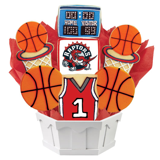 Pro Basketball Bouquet - Toronto Cookie Bouquet