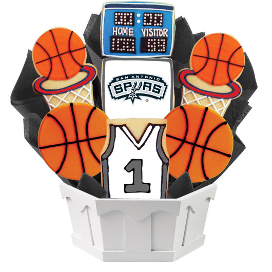 Pro Basketball Bouquet - San Antonio Cookie Bouquet