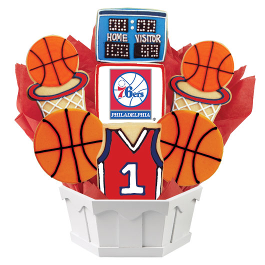 Pro Basketball Bouquet - Philadelphia Cookie Bouquet