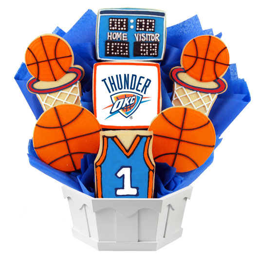 Pro Basketball Bouquet - Oklahoma City Cookie Bouquet