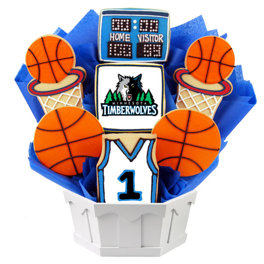 Pro Basketball Bouquet - Minnesota Cookie Bouquet