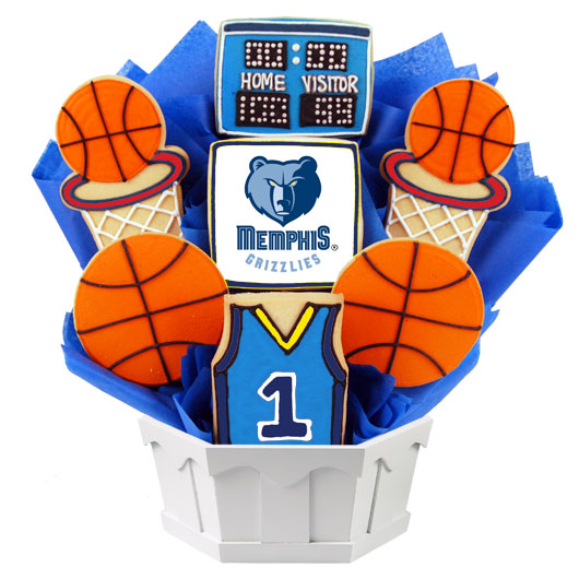 Pro Basketball Bouquet - Memphis Cookie Bouquet