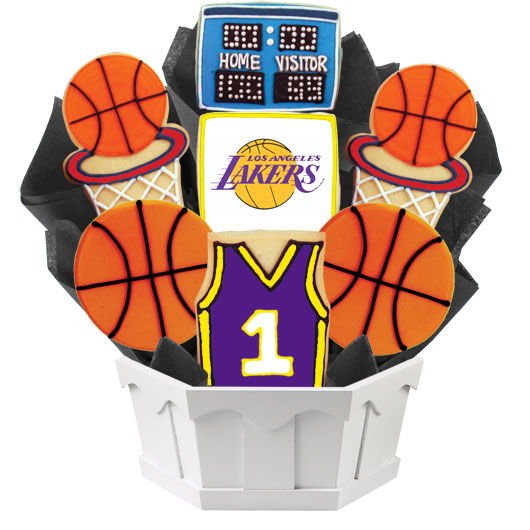 Pro Basketball Bouquet - LA LAL Cookie Bouquet