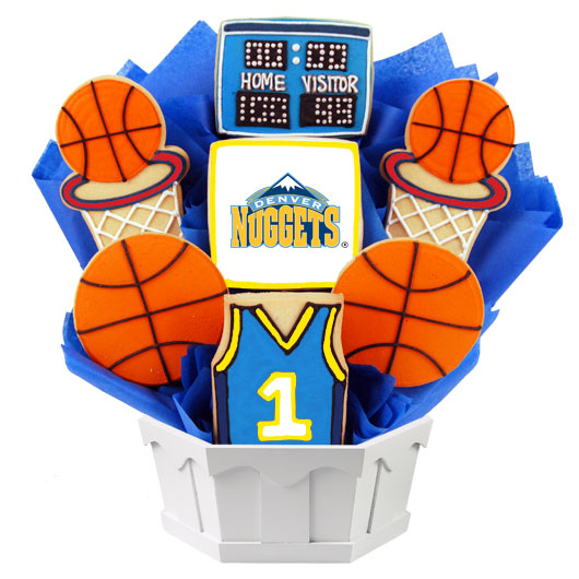 Pro Basketball Bouquet - Denver Cookie Bouquet