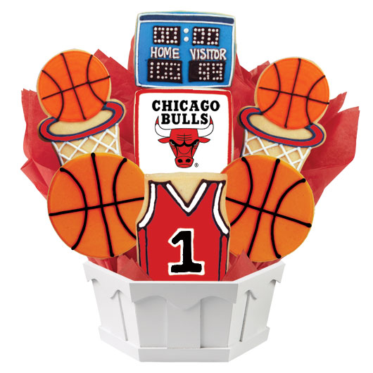 NBA Chicago Bulls Cookie Bouquet