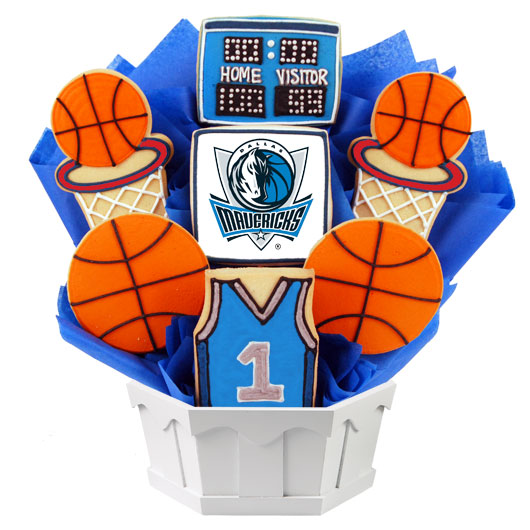 Pro Basketball Bouquet - Dallas Cookie Bouquet