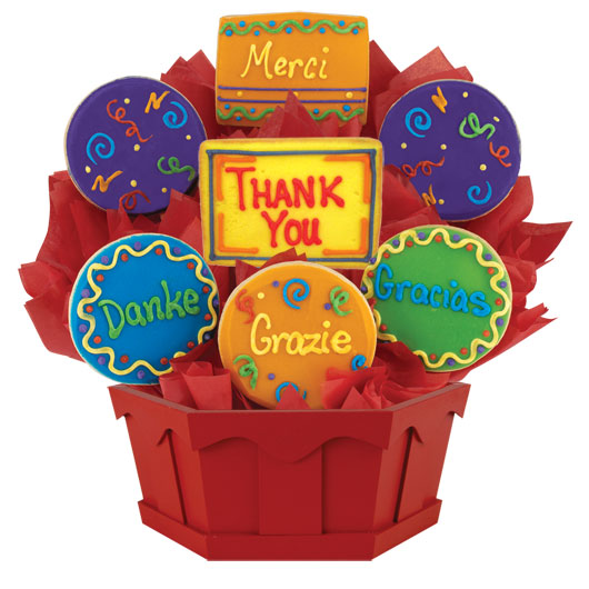 Many thanks gluten free cookie bouquet cookies by design gluten free many thanks negle Image collections