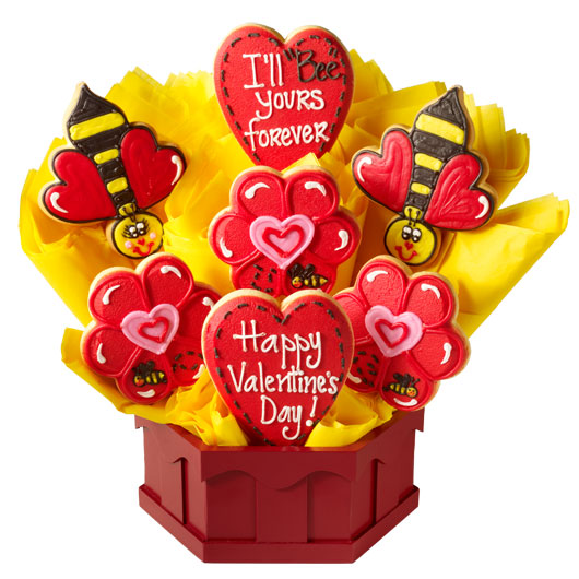"I'll ""Bee"" Yours Forever Cookie Bouquet"