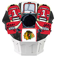 NHL1-CHI - Hockey Bouquet - Chicago