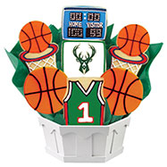 NBA1-MIL - Pro Basketball Bouquet - Milwaukee