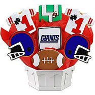 NFL1-NYG - Football Bouquet - New York (Blue)