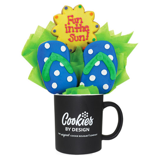 Fun In The Sun Pail Cookie Bouquet