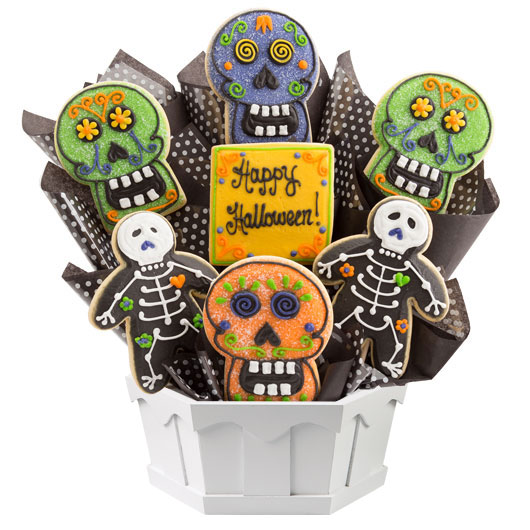Skulls and Skeletons Cookie Bouquet
