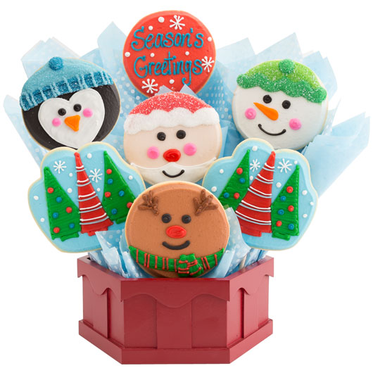 Smiles of the Season Cookie Bouquet