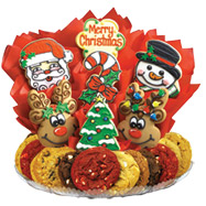 b275 merry christmas boutray - Christmas Cookie Baskets