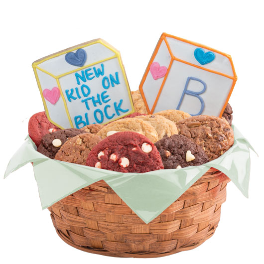Baby blocks gluten free cookie basket cookies by design gluten free baby blocks basket negle