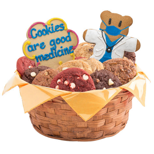 Cookies are Good Medicine Cookie Basket