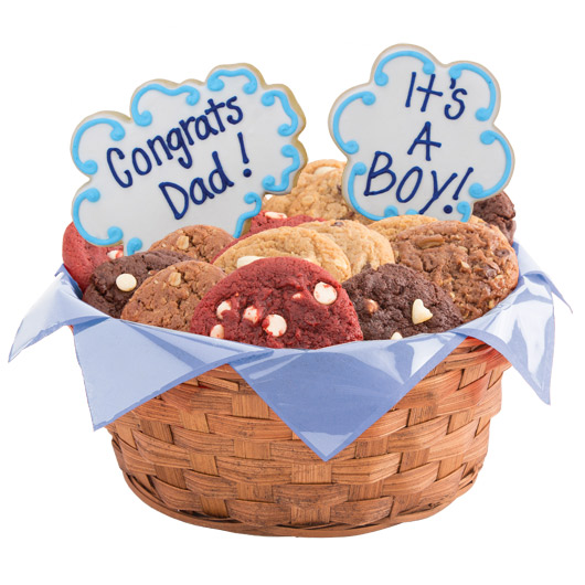 Congrats Dad, It's A Boy Cookie Basket
