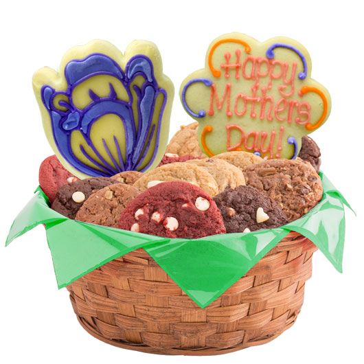 Mother's Spring Blossoms Cookie Basket
