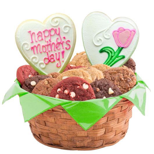 Mom's Tulip Blossoms Cookie Basket