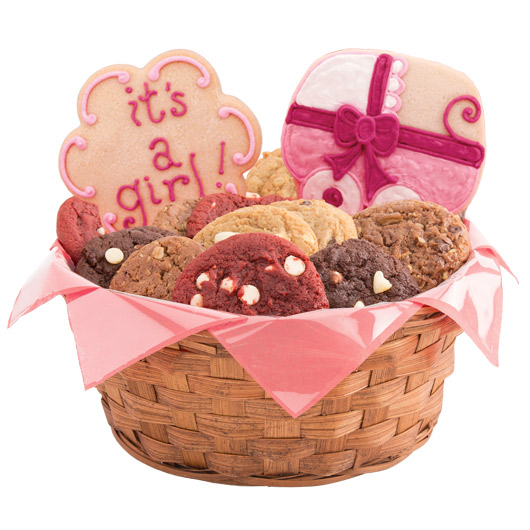 Sweet Baby Girl Cookie Basket