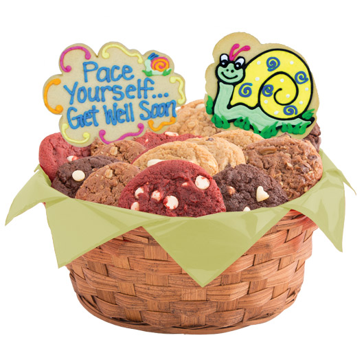 Get well gift basket get well gift delivery cookies by design get well snails cookie basket solutioingenieria Gallery
