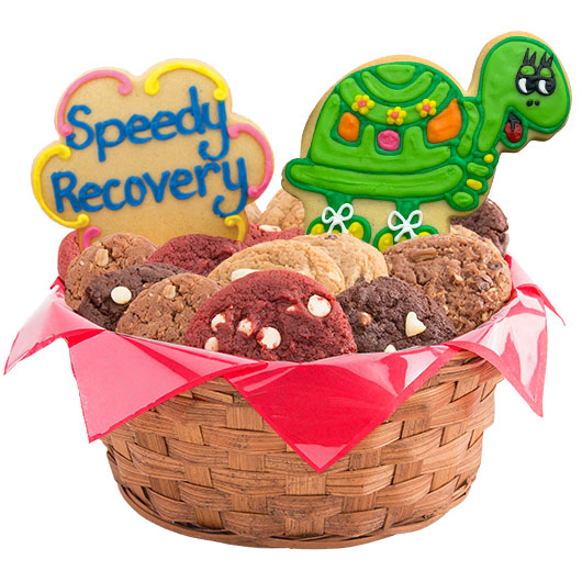 Get well basket get well gift delivery cookies by design speedy recovery cookie basket negle Choice Image