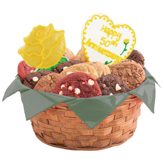 Golden Anniversary Cookie Basket