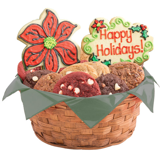 Holiday Floral Cookie Basket