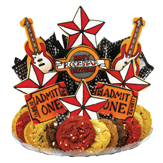 Happy Rockstar Birthday (Red) Gourmet Gift Basket