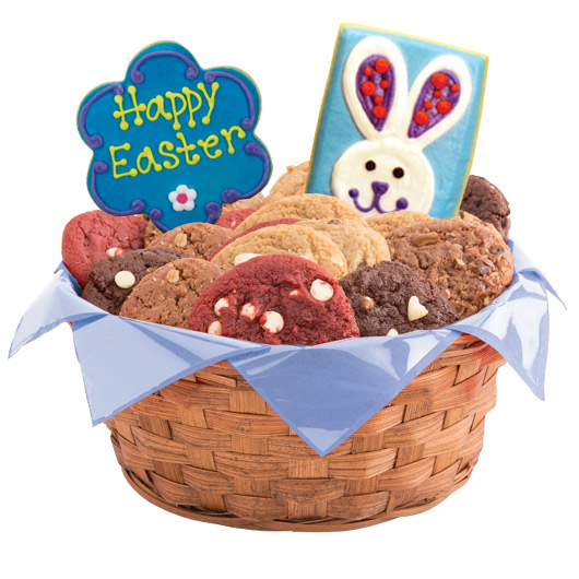 Easter patchwork bunnies gluten free cookie basket cookies by design gluten free easter patchwork bunnies basket negle Image collections