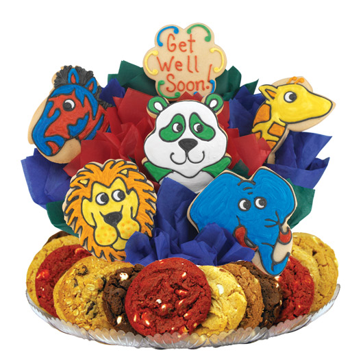 Get Well Zoo Gourmet Gift Basket