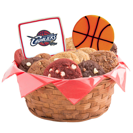 Pro Cookie Basketball Cookie Basket - Cleveland