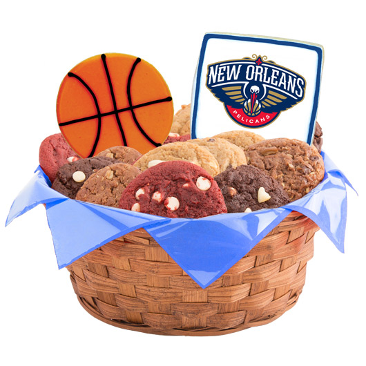 Pro Cookie Basketball Cookie Basket - New Orleans