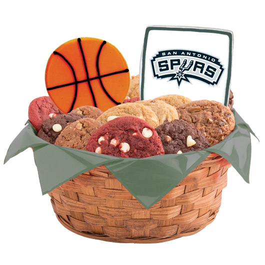 Pro Cookie Basketball Cookie Basket - San Antonio