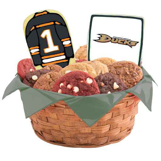 Hockey Cookie Basket - Anaheim