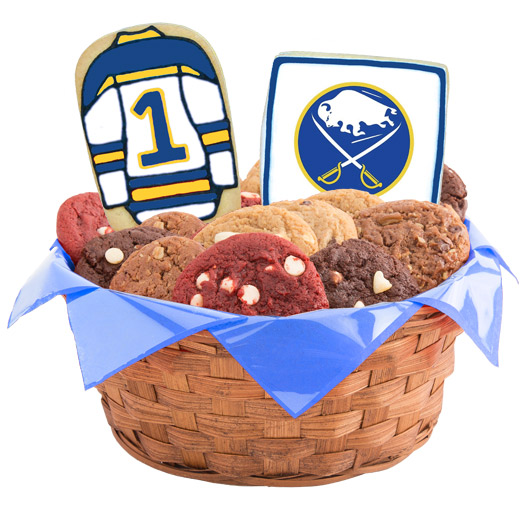 Hockey Cookie Basket - Buffalo