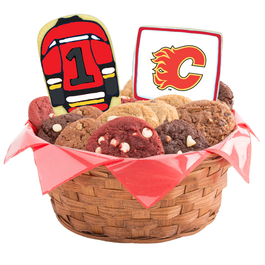 NHL Calgary Flames Cookie Basket