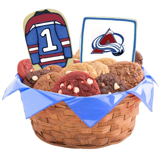 Hockey Cookie Basket - Colorado