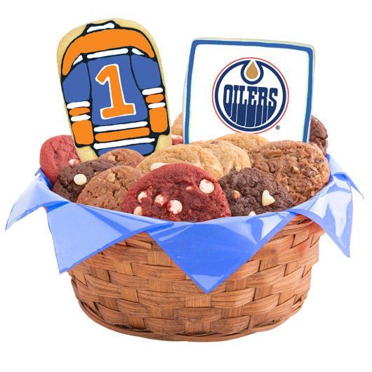 Hockey Cookie Basket - Edmonton