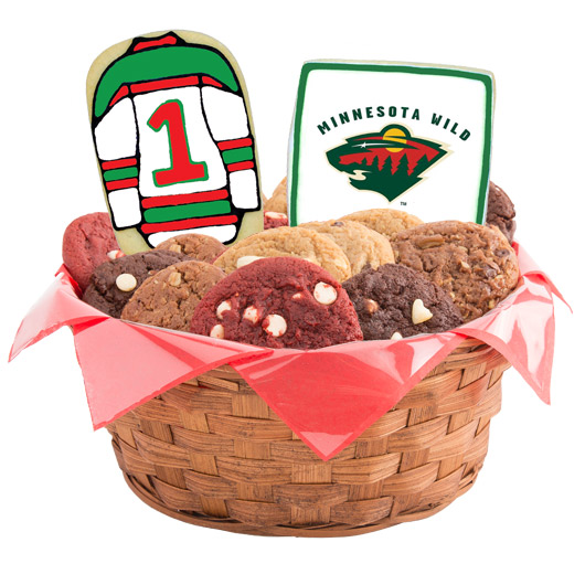 Hockey Cookie Basket - Minnesota