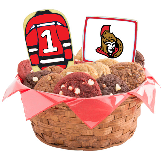 Hockey Cookie Basket - Ottawa