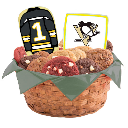 Hockey Cookie Basket - Pittsburgh