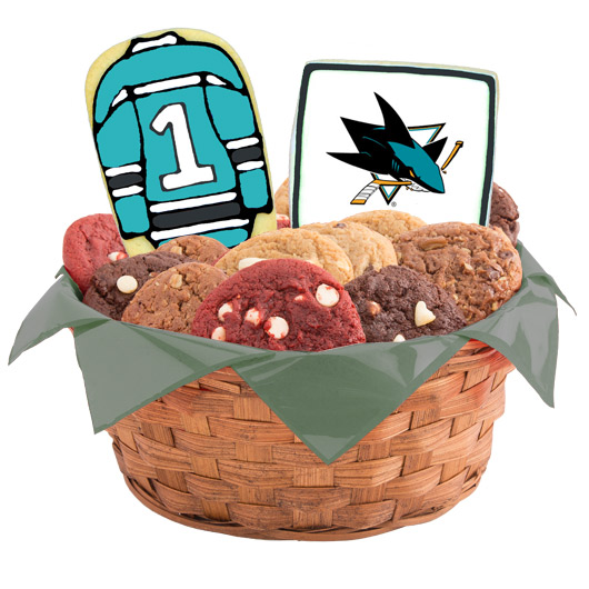 Hockey Cookie Basket - San Jose