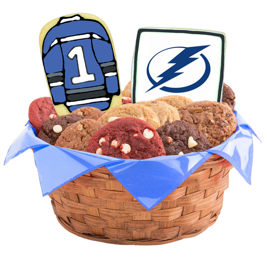 Hockey Cookie Basket - Tampa Bay